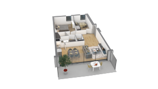 appartement F14 de type T3