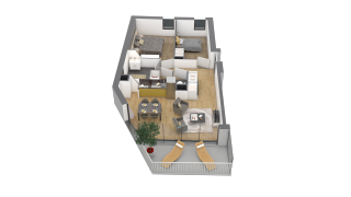 appartement F27 de type T3
